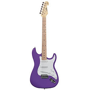 Chord Electric Stratocaster Guitar (Purple)