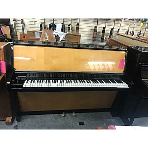 Schimmel Black/Birch Art cased Upright Piano