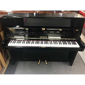 Welmar Resprayed Black Upright Piano