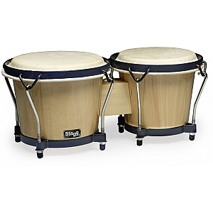 "Wood Bongo,6""+7"", Natural"
