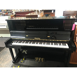 Wendl & Lung Black Polyester Upright Piano
