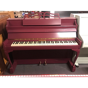 Challen Resprayed Purple Upright Piano