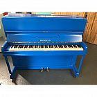 view Brinsmead Resprayed Blue Upright Piano details