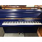 view Bentley Resprayed Blue Upright Piano details