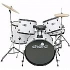 view Chord Acoustic Drum Kit (White) details